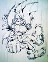 'Look out down below!'- Fall into 2014! Inking by MissTangshan95
