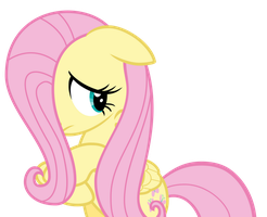 Fluttershy hiding her face behind her mane by Pilot231
