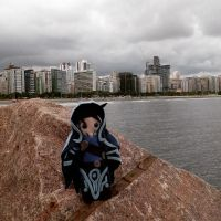 JACE ENJOYING THE VIEW IN SANTOS - BRAZIL by sethzerr