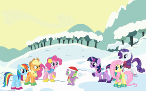 MLP:FIM Winter Scene Poster by PhilipTomkins