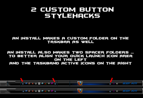 Win7 Folder Buttons And Spacers For Quick Launch by KeybrdCowboy