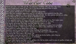 Warrior Code of TSC by AriaSnow