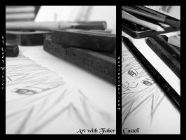 Macro with Faber Castell by LadyxWinter