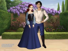 Ariel and Eric II Tudor Style by TFfan234