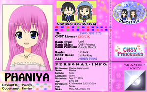CNSY ID: Phaniya by RJAce1014