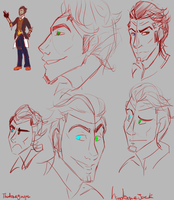Handsome Jack Sketches by thatoneginger