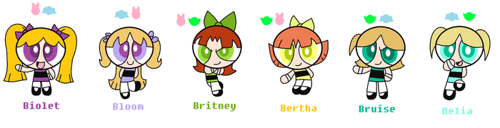 Powerpuff Fusions by Misse-the-cat