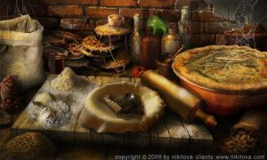 Sweeney Todd Kitchen counter by kidy-kat