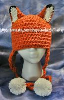 Fox Beanie (FOR SALE) by DarkwingFrog