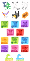 PP Prize Shop Icons by CloverCoin