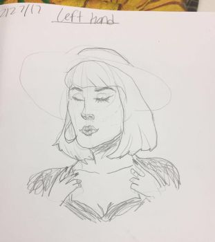 Life Drawing 3: Left Handed Study by FinalAdventure96