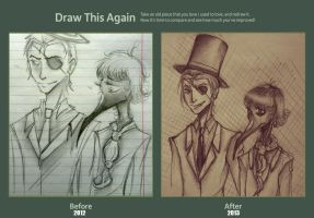 Draw this again! Meme   Sketch Lee and Orintain by lOsal