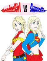 WonderGirl and SuperGirl by ActionKiddy
