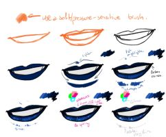 Quick Galaxy Lips tutorial by Skarita