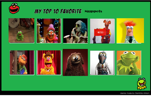 K-Dog0202's Top Ten Muppets by K-dog0202