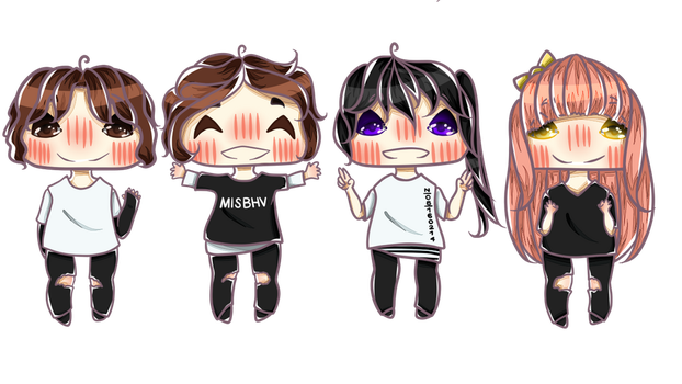 Happy Birthday Nad - Chibis by RinJager