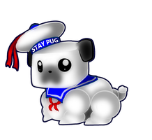 Stay Puft Pug by Permisane
