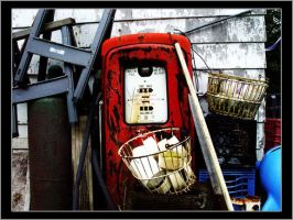 Old Gas Pump by ScaperDeage