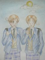 Time for School! - Gakkuen! Italy Brothers by littlegirlinsmalwrld