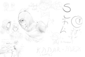 Sketch - Time Zombification by KakashiMasterChief