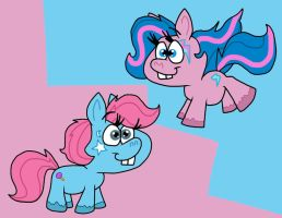 CharlieHorse and LolliClop by Cookie-Lovey