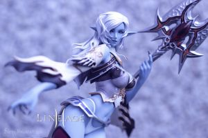 Lineage II Goddess of Destruction, Dark Elf figure by Sarqq