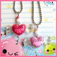 Polka Dot Candy Necklaces by cherryboop