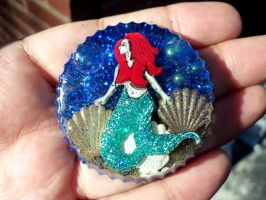 Mermaid resin piece by TashaAkaTachi