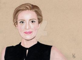 Evelyne Brochu (Colored Pencil Drawing) by julesrizz