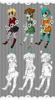 Zombie Girl Adopts ( CLOSED ) by Fictional-Roulette