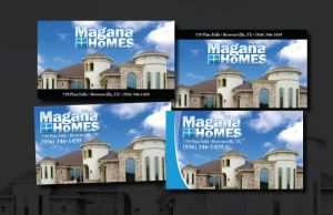 Magana Homes business card by kwant