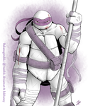 Wounded Donatello by BakaMeganekko