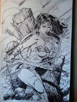 Wonder Woman wip 4 David Finch and Richard Friend by Blasterkid