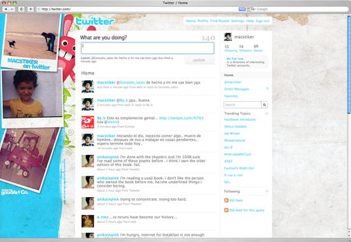 Twitter Background by patoDS
