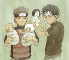 Young hokages and little sannins by k1deki
