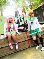 Highschool of the dead Girls 4 by LadyNoa