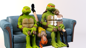 3DS Max - Mikey's Family by SilverMoonCrystal
