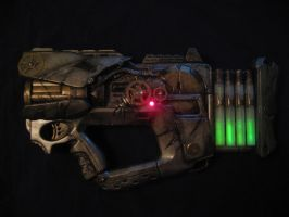 steampunk gun: finished by ToddryElliott