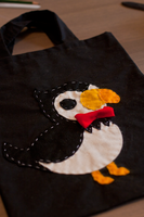 APH - Puffin tote bag by Mezzochan