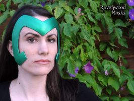 Green Warrior Headdress by Alyssa-Ravenwood