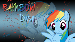Rainbow Dash Background 1 by LtDasher