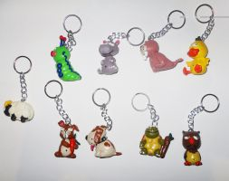 Figures for Keyrings 2 by JuanIglesias90