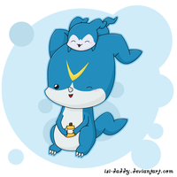 Chibi Veemon and Demiveemon by Isi-Daddy