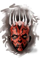 Darth Maul speed paint by hubie-the-cat