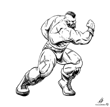 STREET FIGHTER II: Zangief (LINES) by CrescentDebris