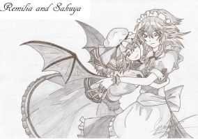 Remilia and Sakuya by AustrianFireFox