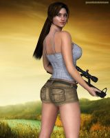 Lara ready for danger by JpauCroft