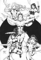 Leo Matos: Women of X-Men by comiconart