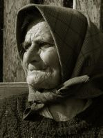 Old Romanian Woman by borda