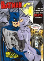 Batman and Catwoman kiss by robfleming284